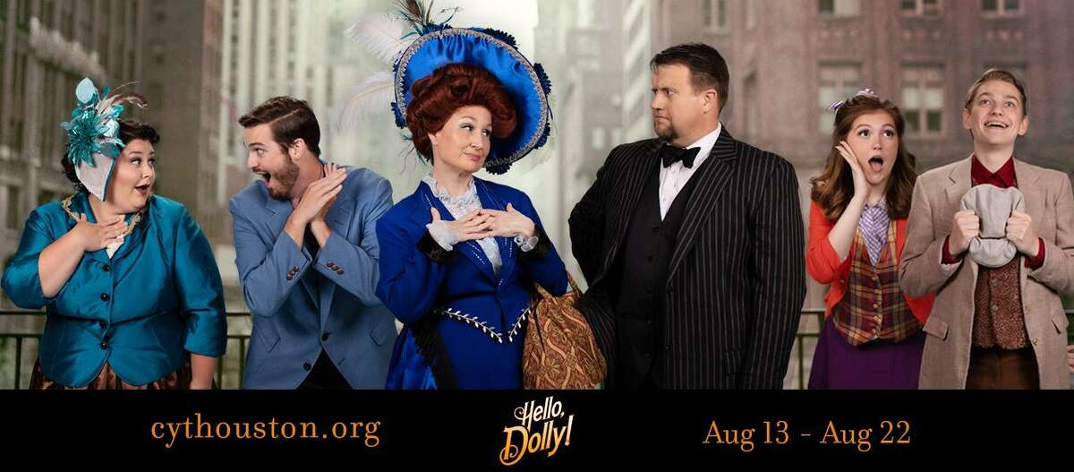 """Pictured from left are Hannah Weaver (Irene Molloy), Josh Marchant (Cornelius Hackle), Lisa Woods (Dolly Levi), Steven Driver (Horace Vandergelder), Madeline Driver (Minnie Fay) and David McNight (Barnaby Tucker) in Christian Community Theater's """"Hello Dolly!"""" performing Aug. 13-15 and Aug. 20-22 at the Crighton Theatre."""