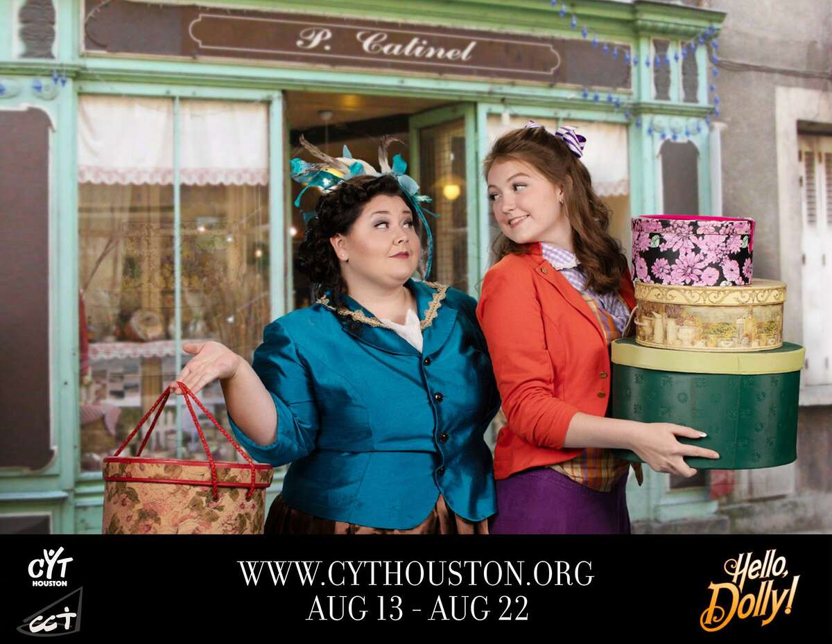 """Hannah Weaver as Irene Molloy and Madeline Driver as Minnie Fay in Christian Community Theater's """"Hello Dolly!"""" at the Crighton Theatre. Shows are Aug. 13-15 and Aug. 20-22."""