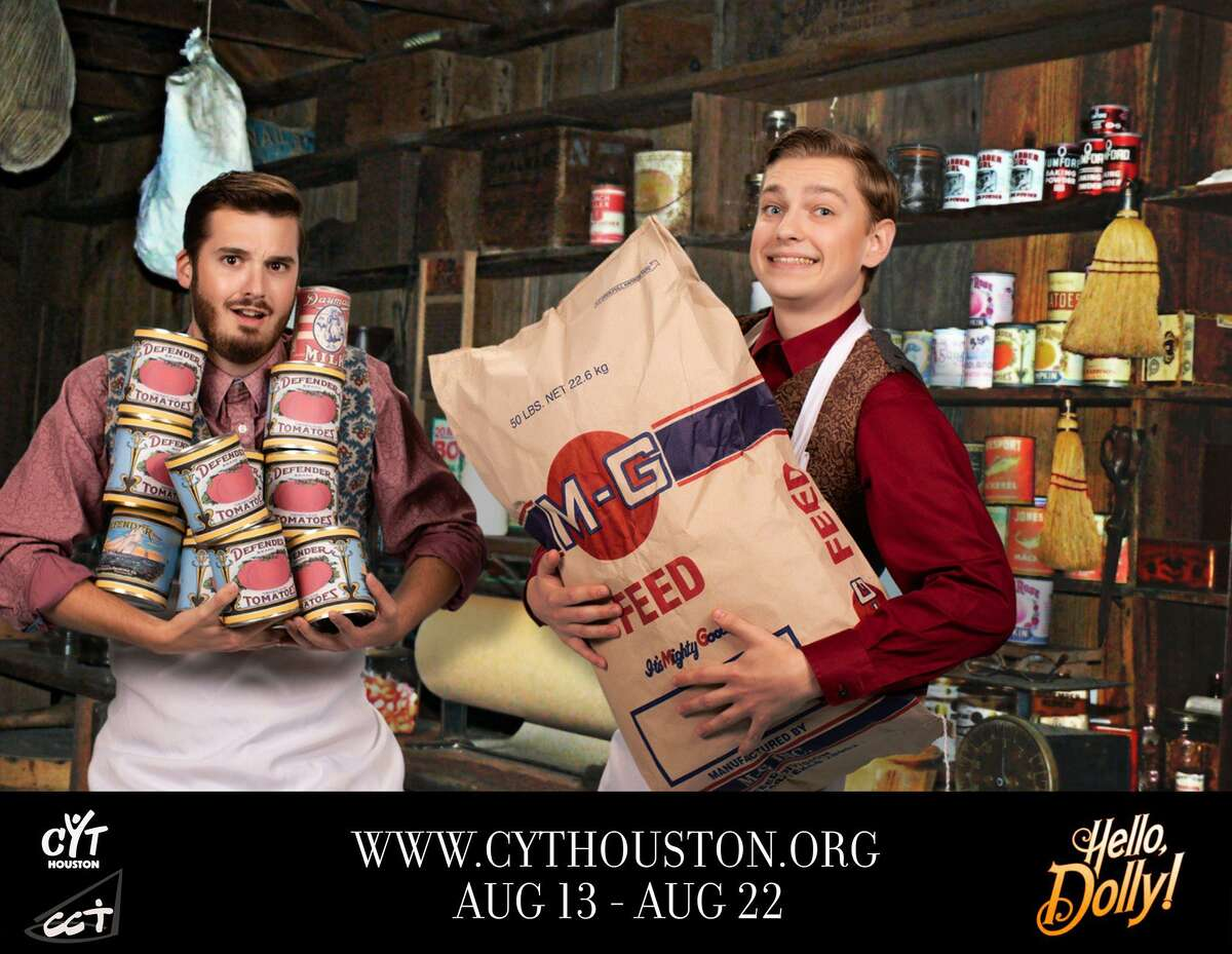 """Josh Marchant as Cornelius Hackle and David McNight as Barnaby Tucker in Christian Community Theater's """"Hello Dolly!"""" Aug. 13-15 and Aug. 20-22."""