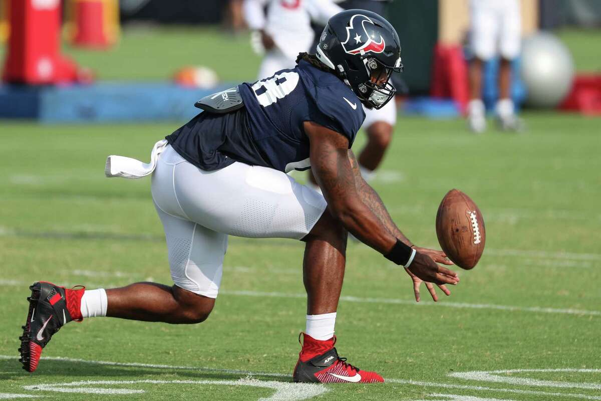 Texans tight end Jordan Akins was a regular participant in training camp until not practicing Tuesday.