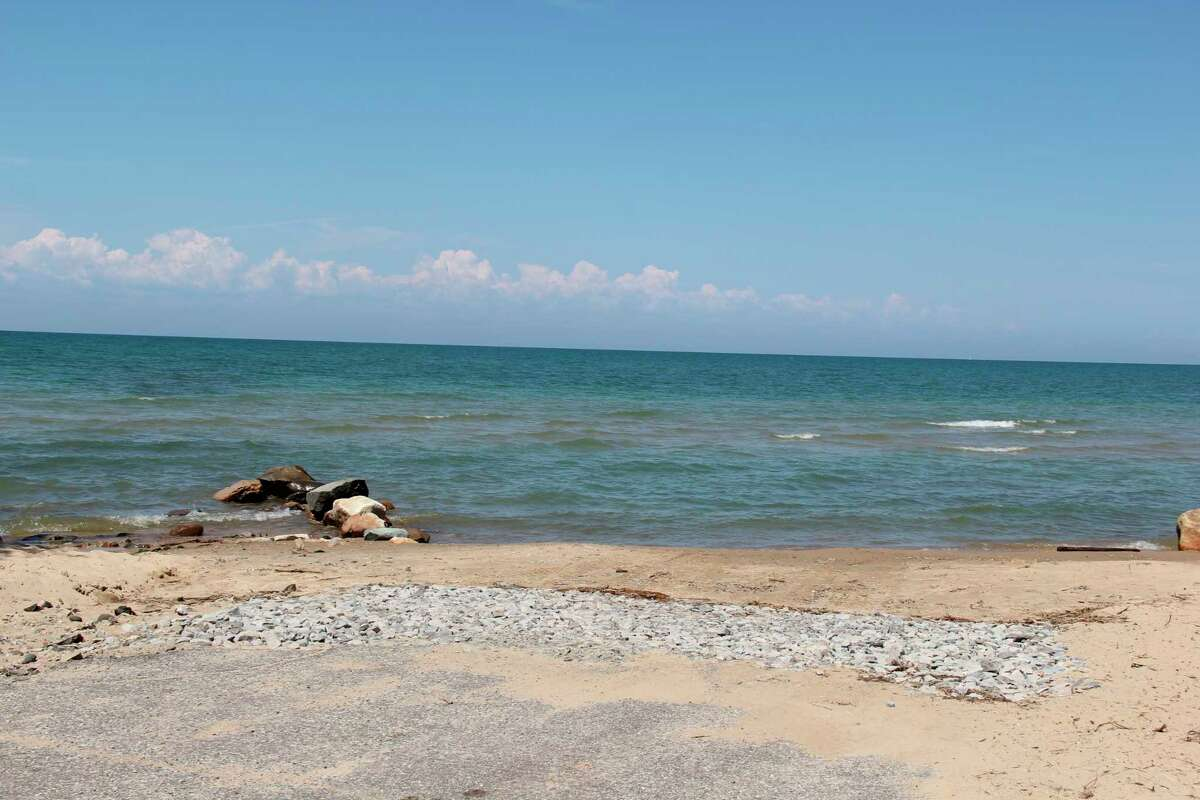 The Oak Beach Boat Launch Supporters have again complained about how the road commission has handled the launch, this time about the removal of an approach. (Robert Creenan/Huron Daily Tribune)