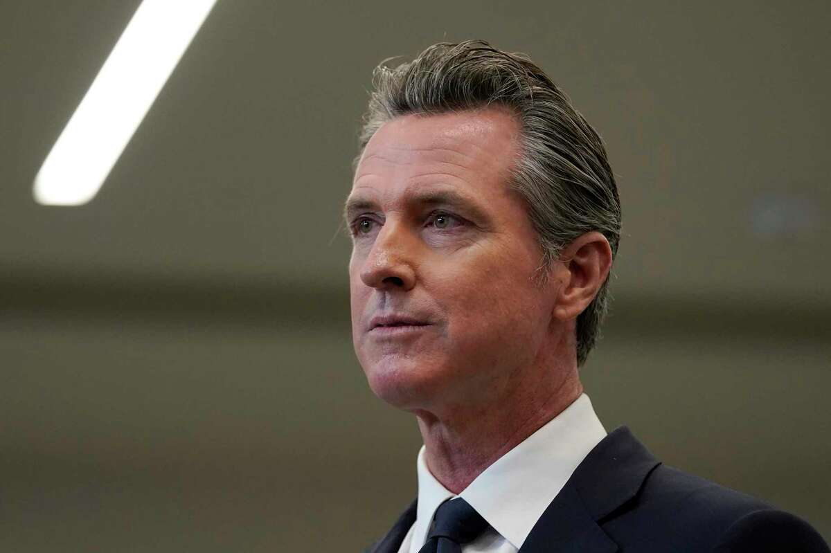"""Gov. Gavin Newsom is facing a recall election in September and wants to retain language in a campaign pamphlet that calls the effort a """"power grab."""""""