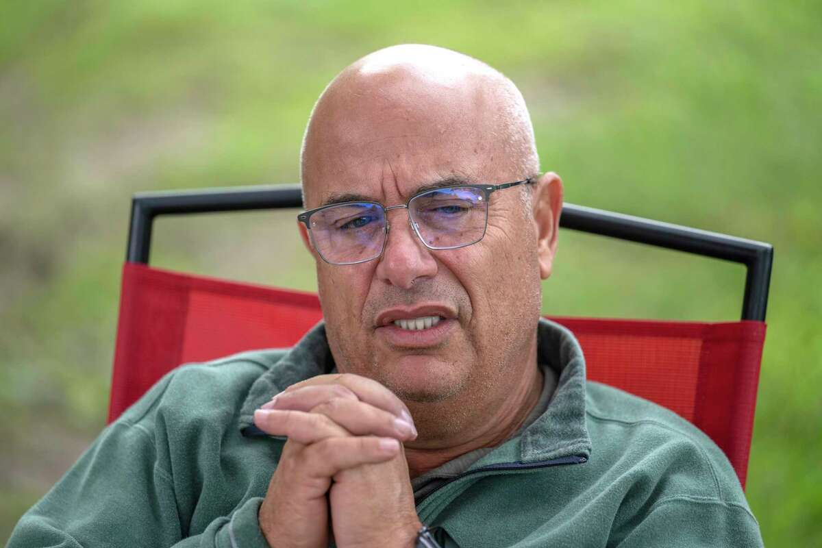 Trainer Mark Casse speaks to the Times Union about his induction to the National Museum of Racing and Hall of Fame at Saratoga Race Course on Wednesday, Aug. 4, 2021, in Saratoga Springs, N.Y.