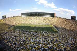 """Michigan Stadium in Ann Arbor is shown during a Sept. 5, 2009 game between the University of Michigan and Western Michigan. Dow High will open its football season against Fenton on Friday, Aug. 27, at the """"Big House."""""""