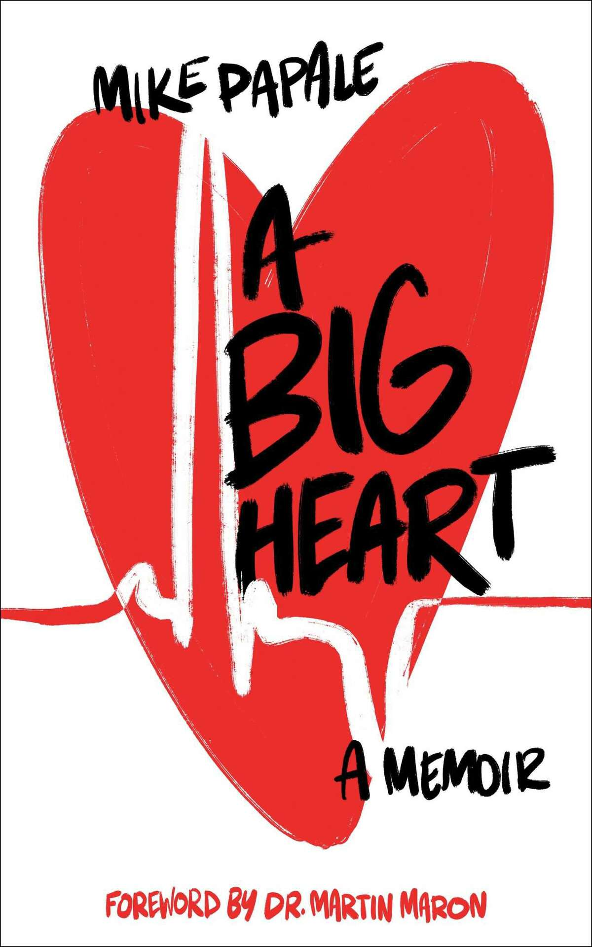 The cover of Mike Papale's new book titled 'A Big Heart' details Papale's battle with heart disease since his late teenage years.