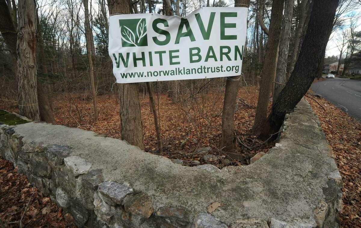 The Norwalk Land Trust's White Barn Preserve Wednesday, January 9, 2019, in Norwalk, Conn.