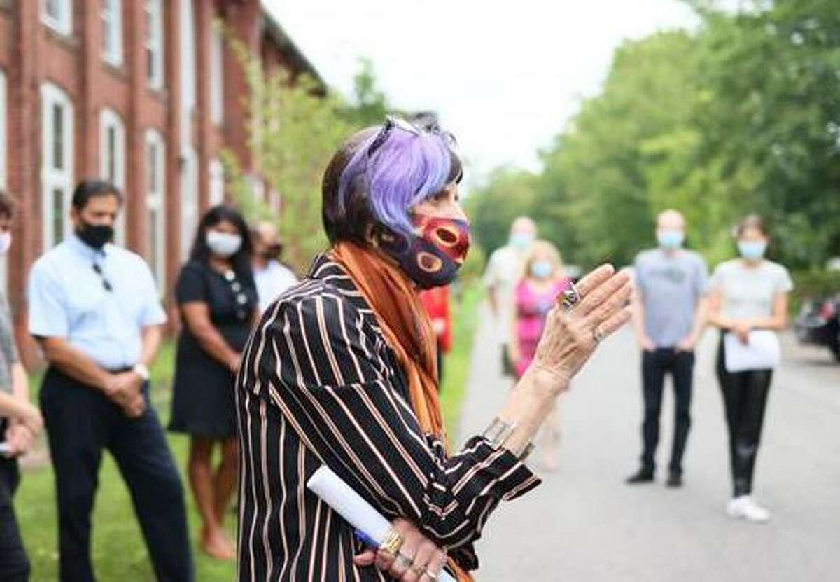 U.S. House Appropriations Committee Chair Rosa DeLauro, D-Connecticut, joined Middletown Mayor Ben Florsheim, Deputy Commissioner of the Connecticut Department of Economic and Community Development Alexandra Baum; city Director of Economic and Community Development Joseph Samolis and others to mark the passage of $1 million in funding to modernize building infrastructure at R.M. Keating Historical Enterprise Park on Johnson Street.