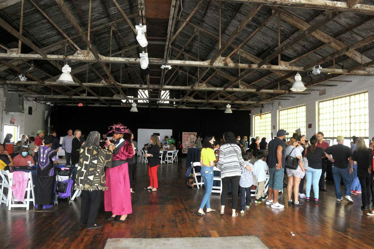 A party was held at The Knowlton event venue kicking of a months-long celebration of the of Bridgeport's 200th anniversary, in Bridgeport, Conn. June 2, 2021.