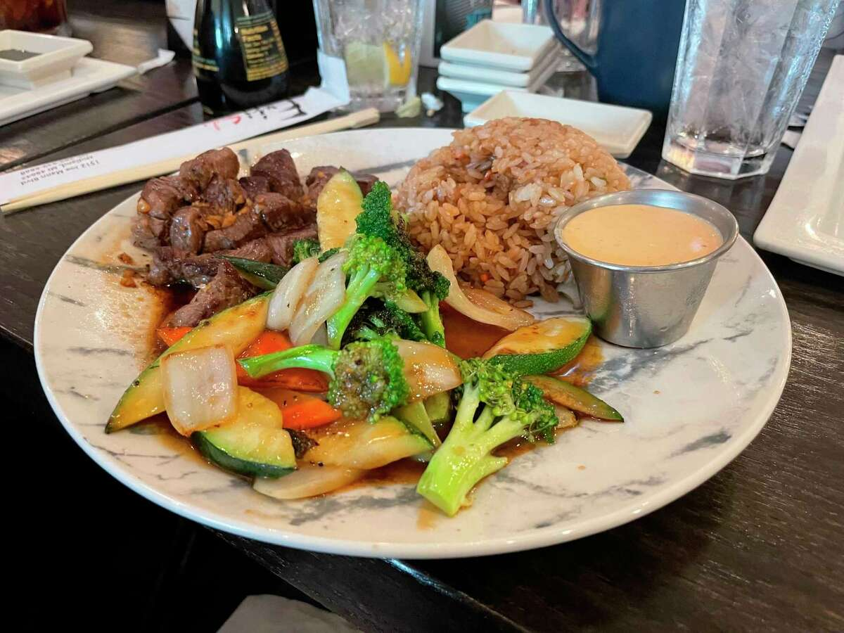 Midland Daily News Reporter Tess DeGayner ordered a hibachi steak entrée for her lunch. (Tess DeGayner/Tess.DeGayner@hearstnp.com)