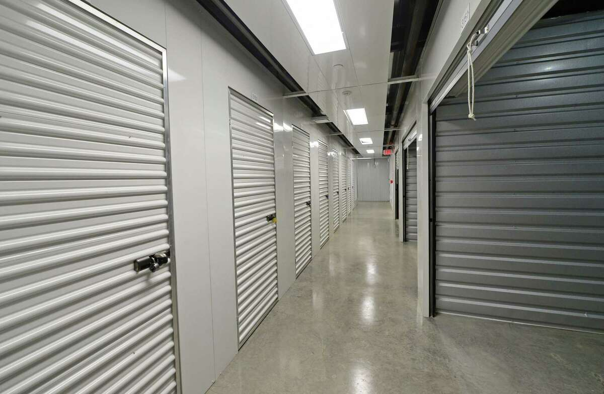 An access corridor at Secure Self Storage in Norwalk, Conn., built in 2016 on Connecticut Avenue alongside the Stonefield Apartments.
