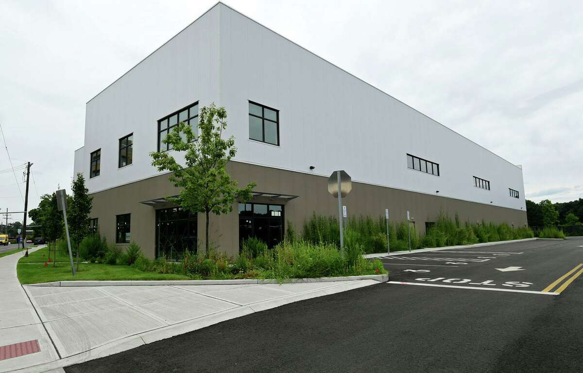 A warehouse building at 320 Wilson Ave. in Norwalk, Conn., which was sold after construction was completed in June to a buyer considering converting it to self-storage. The city is discussing a temporary moratorium on new self-storage and warehouse distribution facilities in portions of South Norwalk and East Norwalk, as it completes an overhaul of zoning regulations.