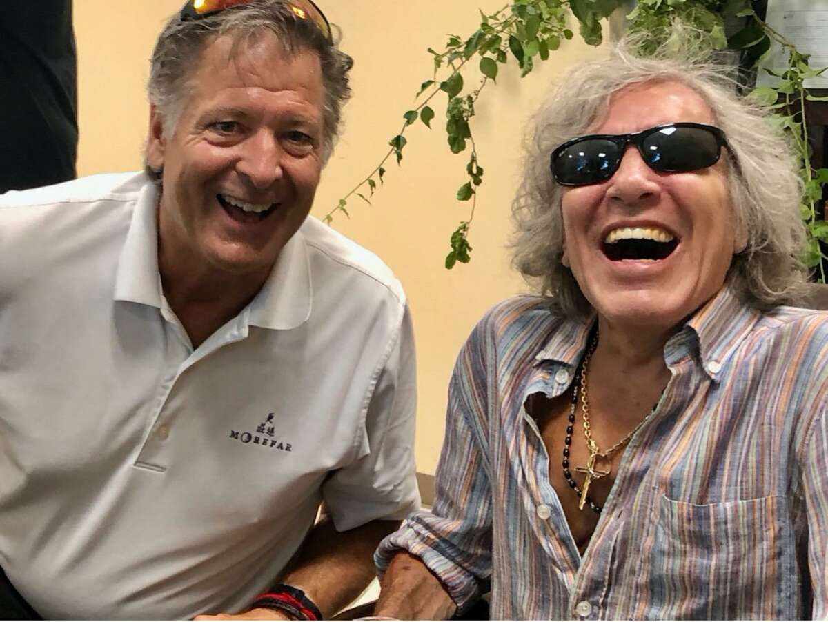 Ridgefield resident Bo Beatty, left, founder of Traffick Jam Live, with concert headliner José Feliciano, of Weston. The nonprofit produces concerts, digital broadcasts and other events to inform a broad scope of audiences and organizations on human trafficking. It will host an event at The Ridgefield Playhouse on Aug. 14.