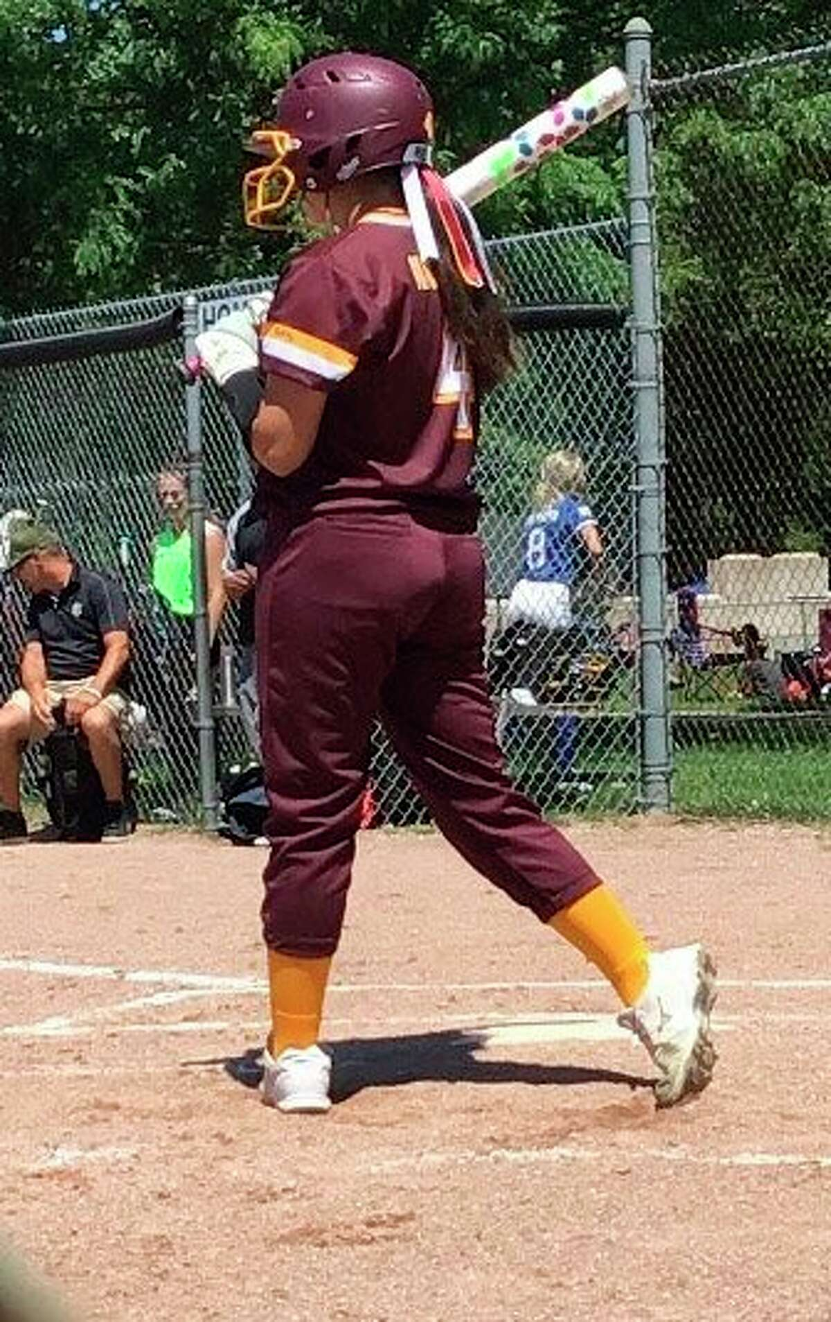 Hailey Maeder was one of three Chippewa Hills softball players to perform this summer for the Traverse City Thunder. (Courtesy photo)
