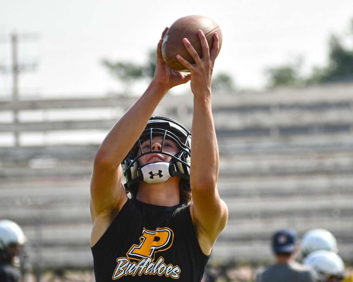 The Petersburg football team continued preseason practice on Wednesday at Buffalo Stadium.
