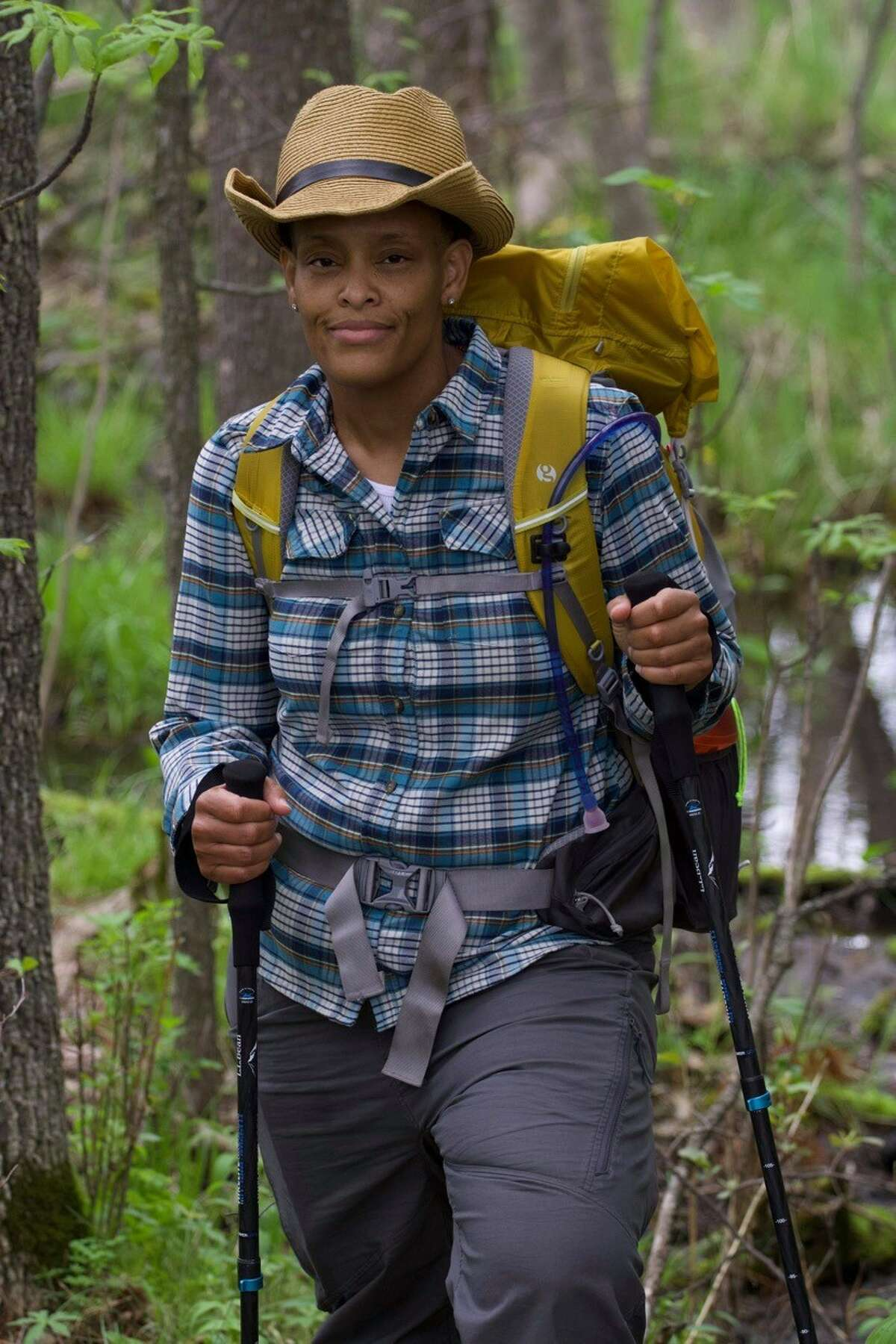 """Crystal Gail Welcome is hiking the PCT and beyond to """"take up space."""""""