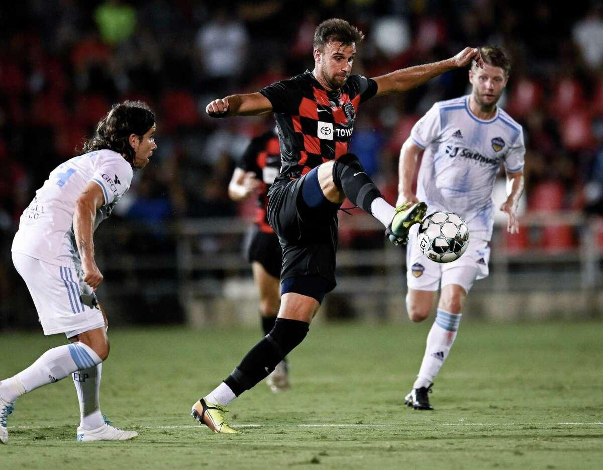 El Paso Locomotive FC plays San Antonio FC during a USL Championship soccer match on Wednesday, July 28, 2021, at Toyota Field in San Antonio. El Paso won 2-1. (Darren Abate/USL Championship)