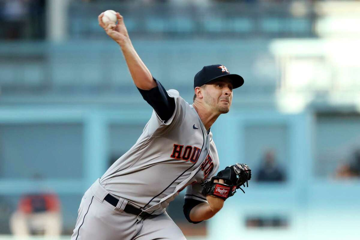Houston Astros starting pitcher Jake Odorizzi lasted only three innings in loss to Dodgers.