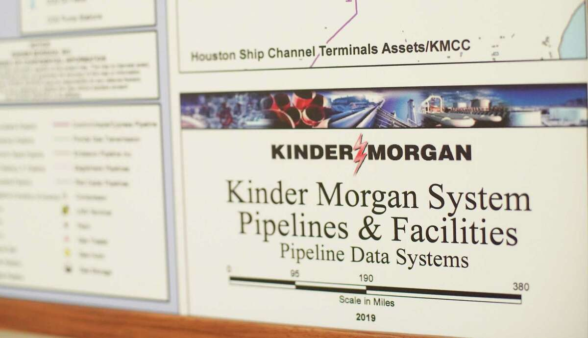 Kinder Morgan CEO Steven Keanthis office in Houston on Wednesday, Aug. 4, 2021.