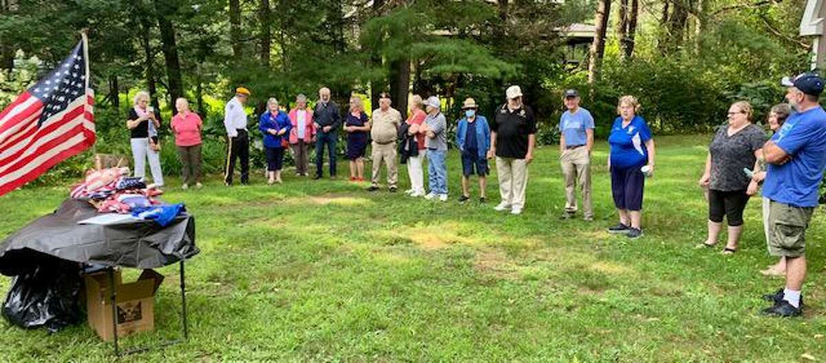 Riverton Grange #169, which is located in Riverton, Connecticut, recently hosted its second annual flag retirement ceremony along the banks of the Farmington River in Barkhamsted, Connecticut.