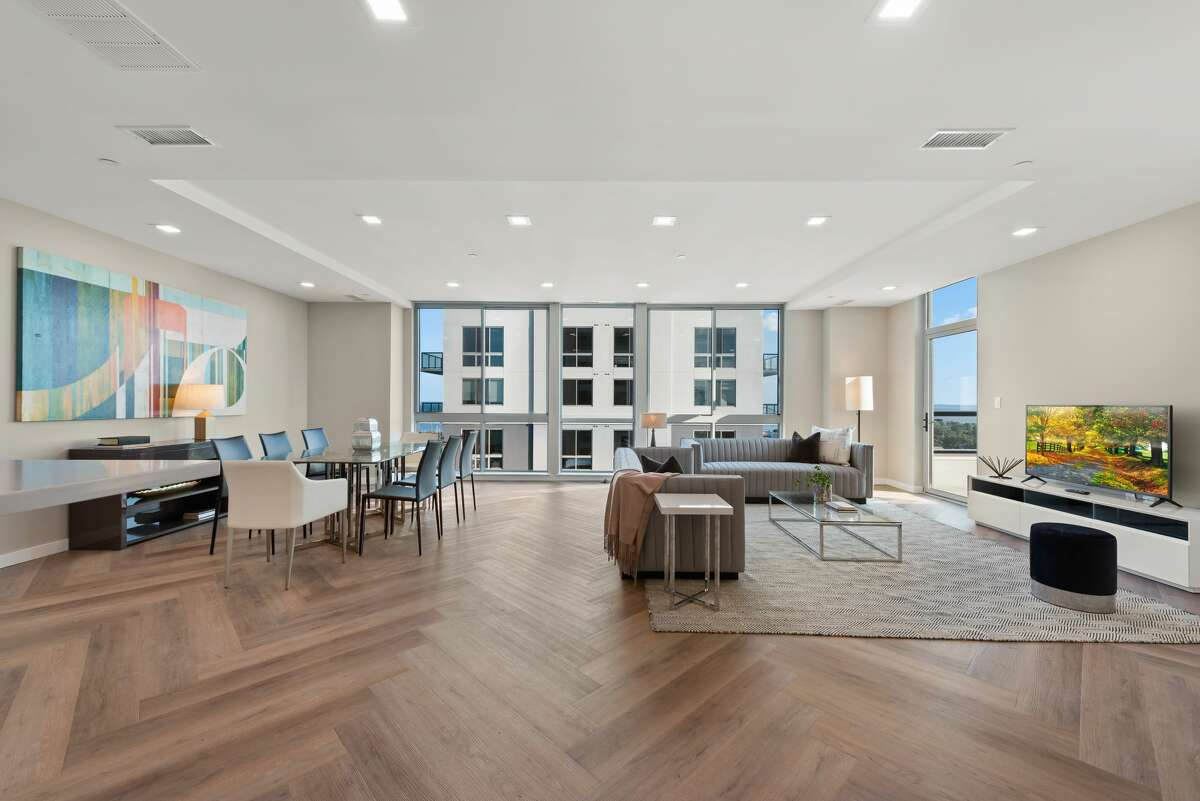 The penthousehas four bedrooms, four bathrooms and over 4,400 square feet.