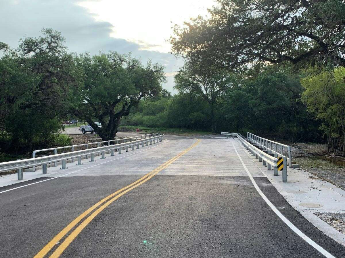 The main entrance at O.P. Schnabel Park is now open.