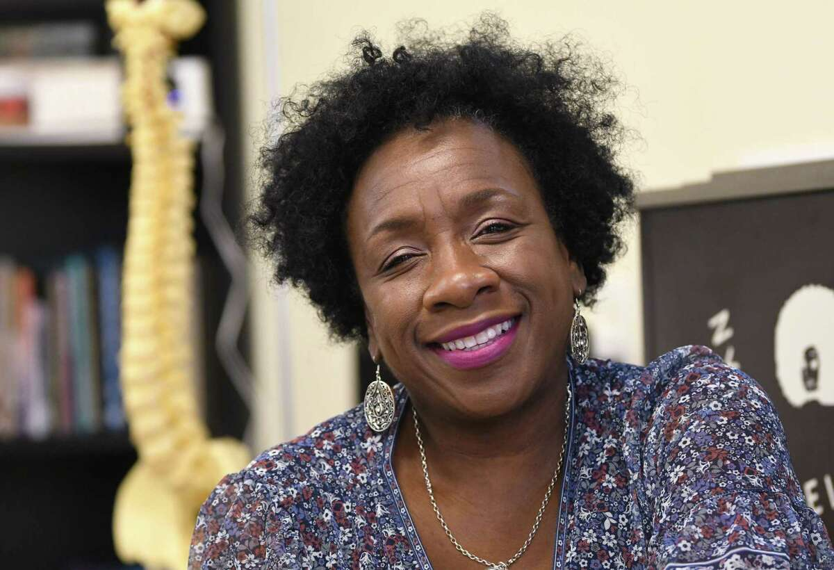 Dr. Brenda Robinson, founder and CEO of the Black Nurses Coalition, is seen in her office on Monday, July 12, 2021 in Albany, N.Y. (Lori Van Buren/Times Union)