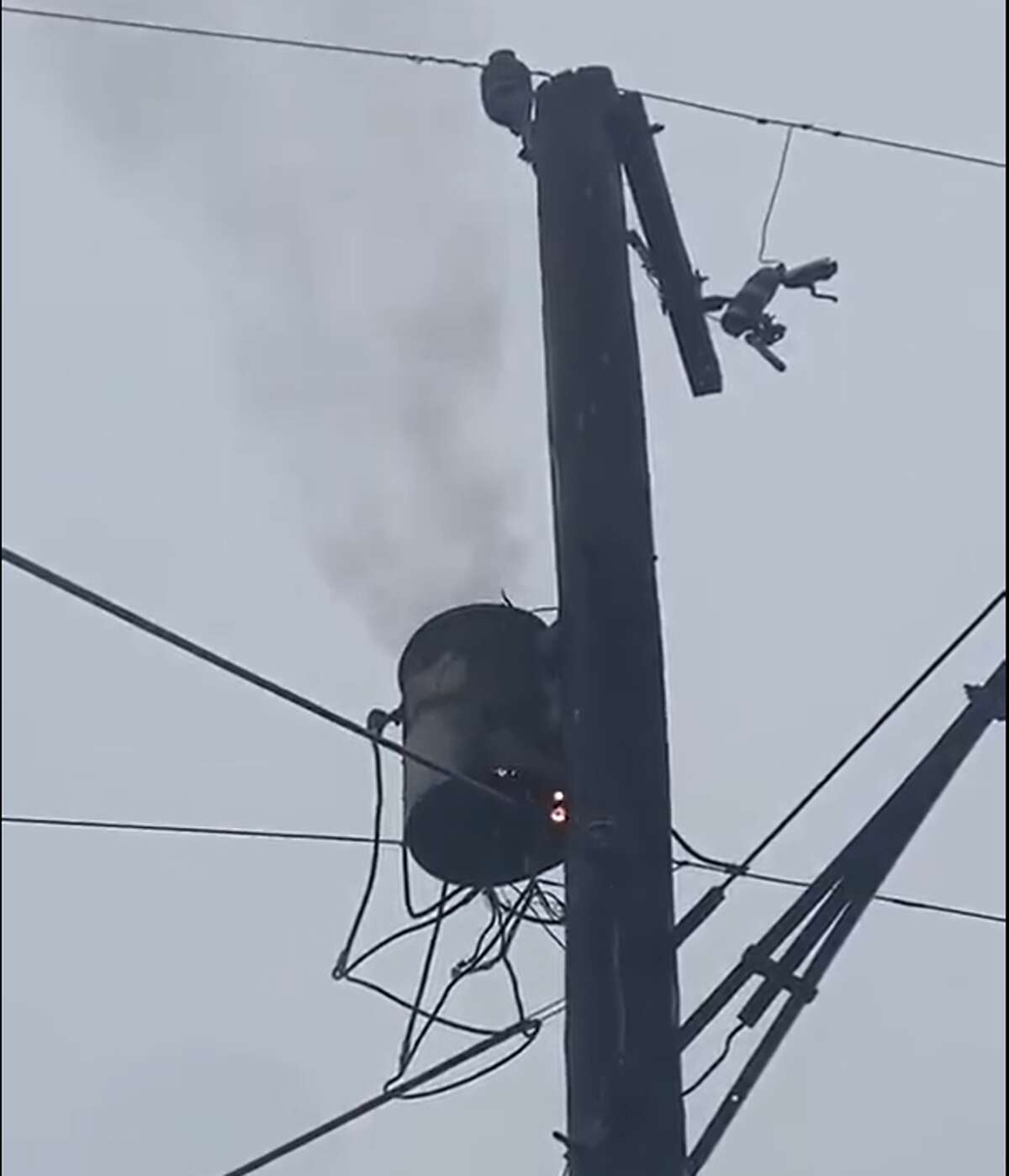 Lightening struck this unit near Thomas Jefferson High School.