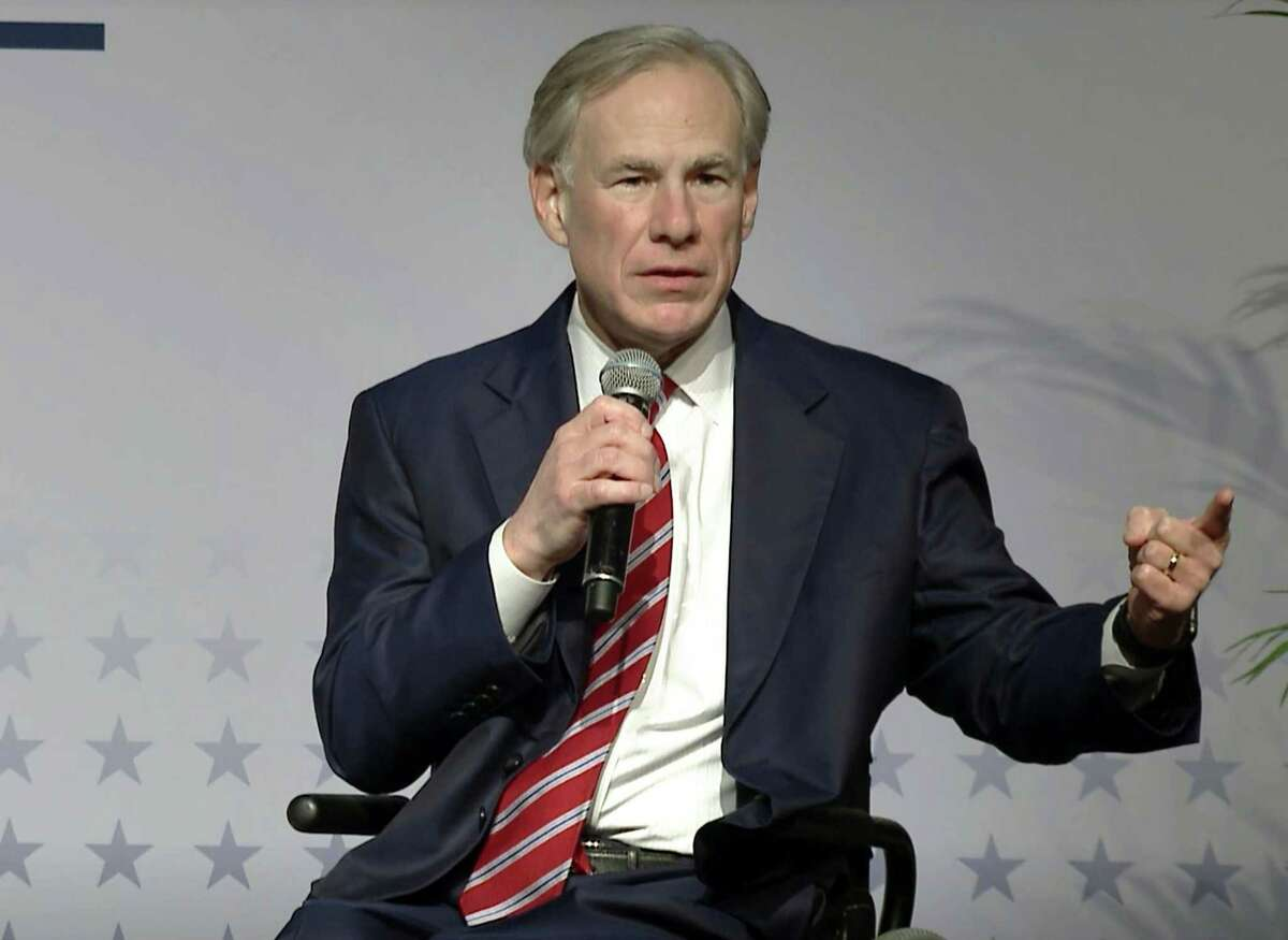 Texas Gov. Greg Abbott speaks on March 7, 2021. Abbott's order to restrict the transportation of migrants who had previously been detained by the federal immigration authorities has drawn a court challenge from the U.S. Department of Justice. (Lynda M. Gonzalez/Dallas Morning News/TNS)