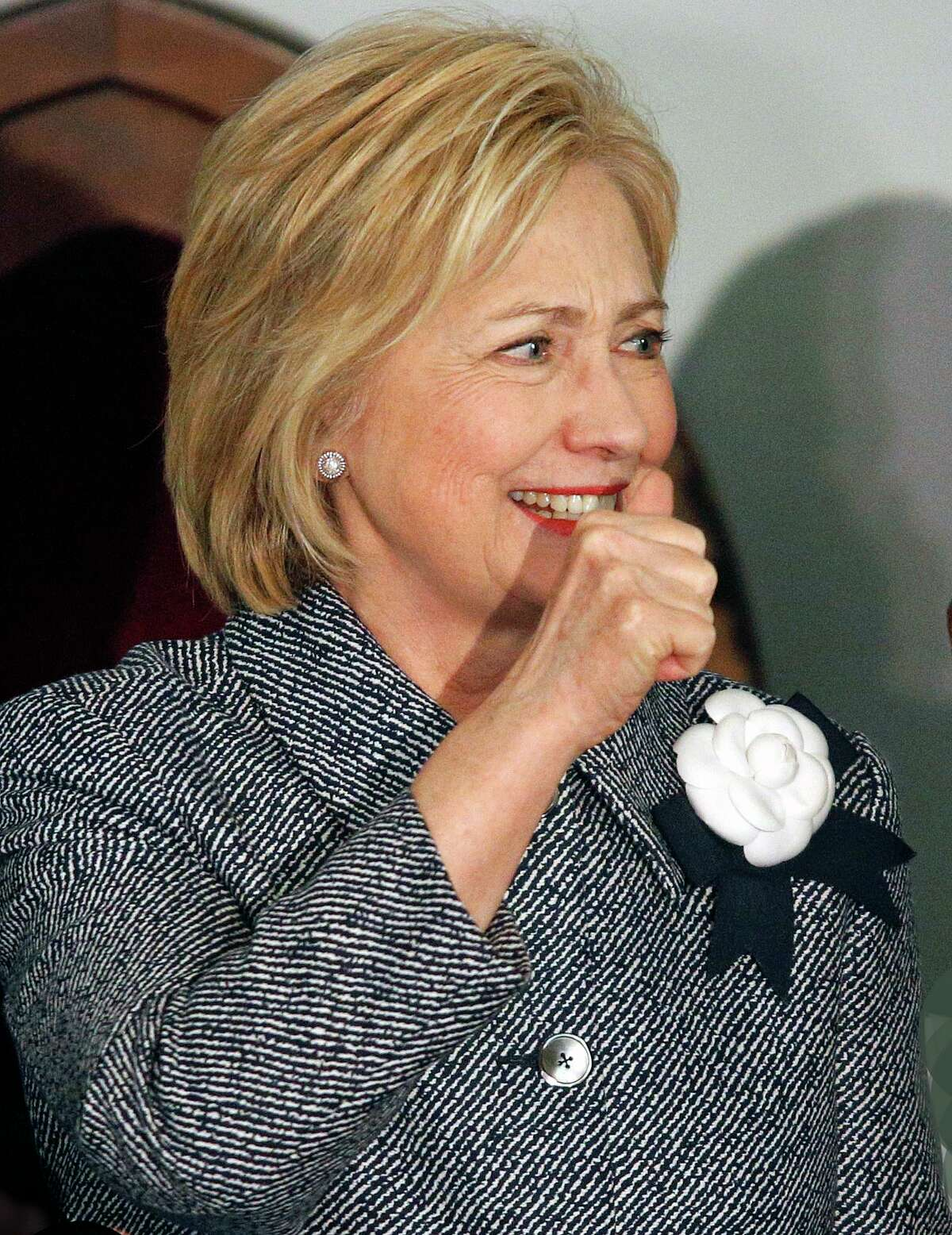 File photo. Former Democratic presidential candidate Hillary Clinton.