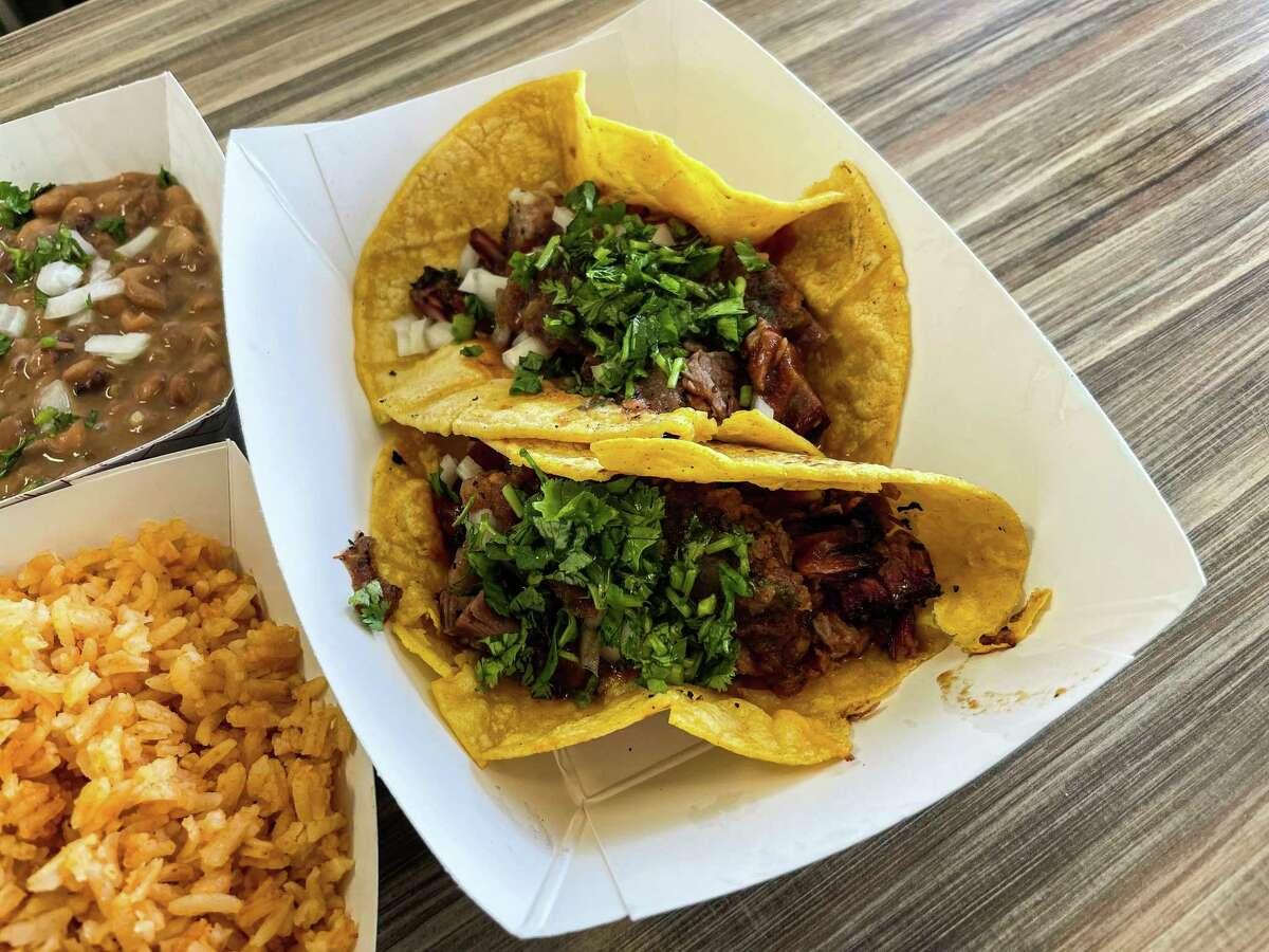 Brisket tacos atBraeswood Tex-Mex BBQ, Las Vegas