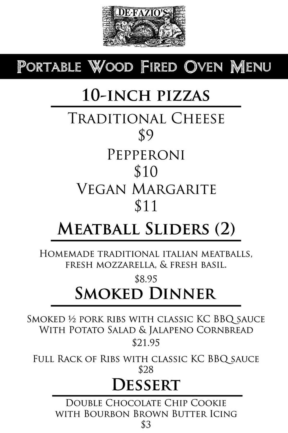The Troy-based DeFazio's Pizzeria, which is a couple of weeks away from opening a satellite location next to the Albany Distilling Co.' tasting room on Livingston Avenue in downtown Albany, this weekend will offer a menu expanded beyond the pizzas that have been available there in recent weeks.