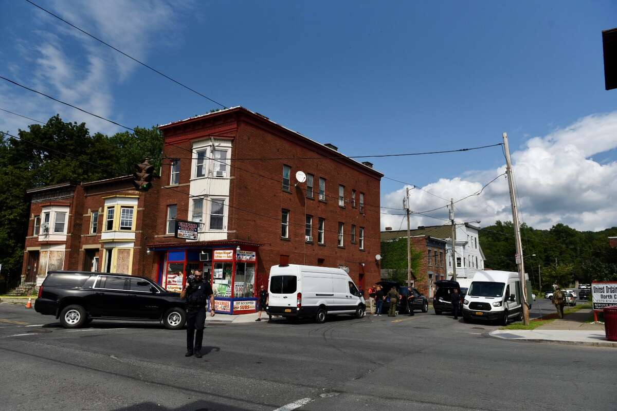 A standoff at a home on Sixth Street in Troy ended peacefully Thursday when a man who was barricaded inside the building surrendered.
