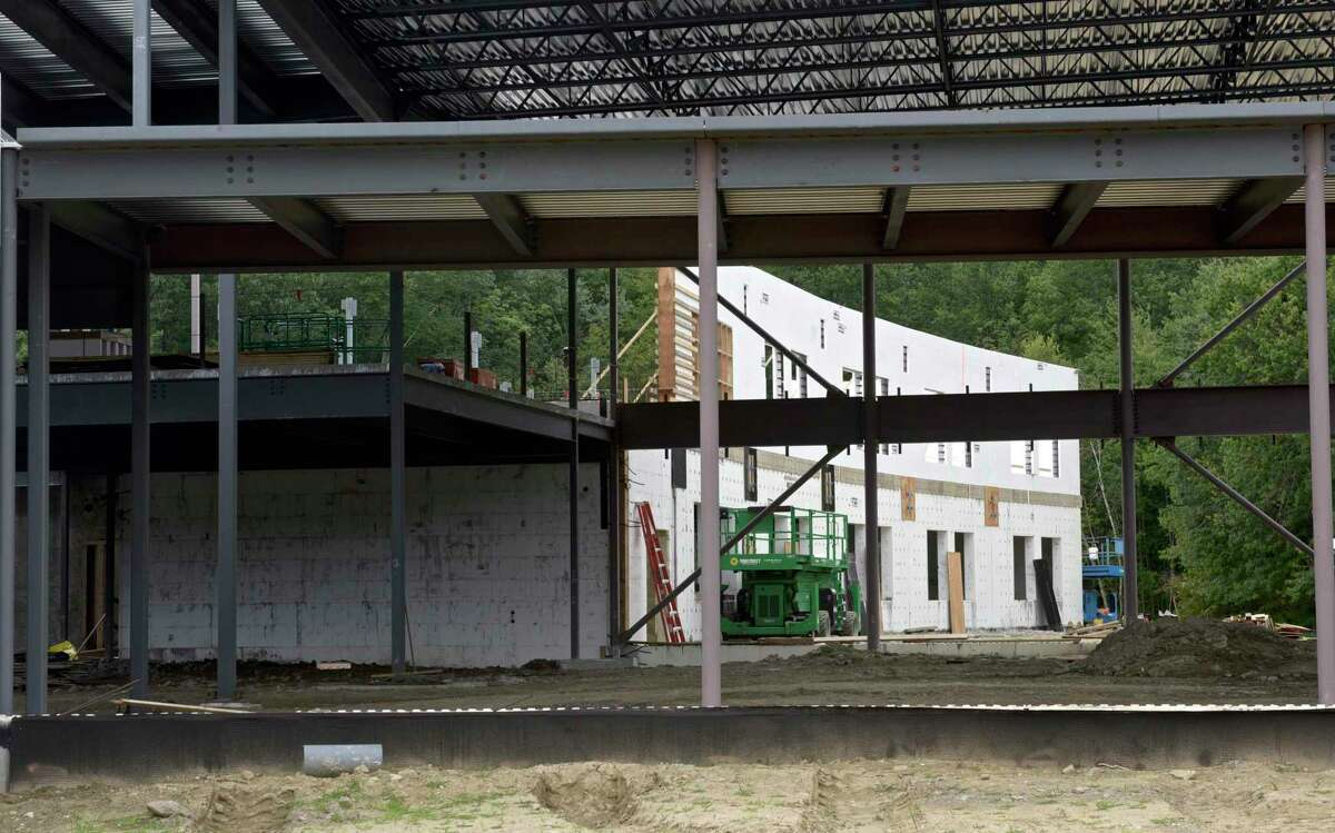 Construction is progressing on Candlewood Lake Elementary School in Brookfield, Conn. Wednesday, August 4, 2021.