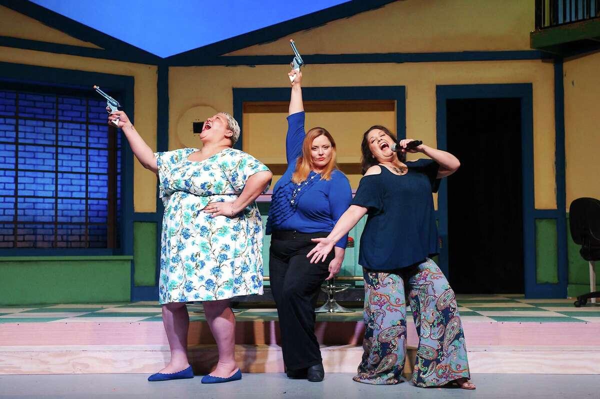Christina Wells, Jana Ellsworth and Jennifer Young rehearse.