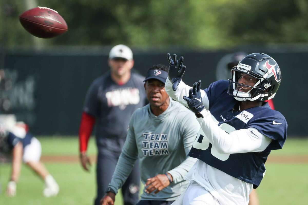 Undrafted free agent receiver Damon Hazelton's time in camp with the Texans ended Wednesday.