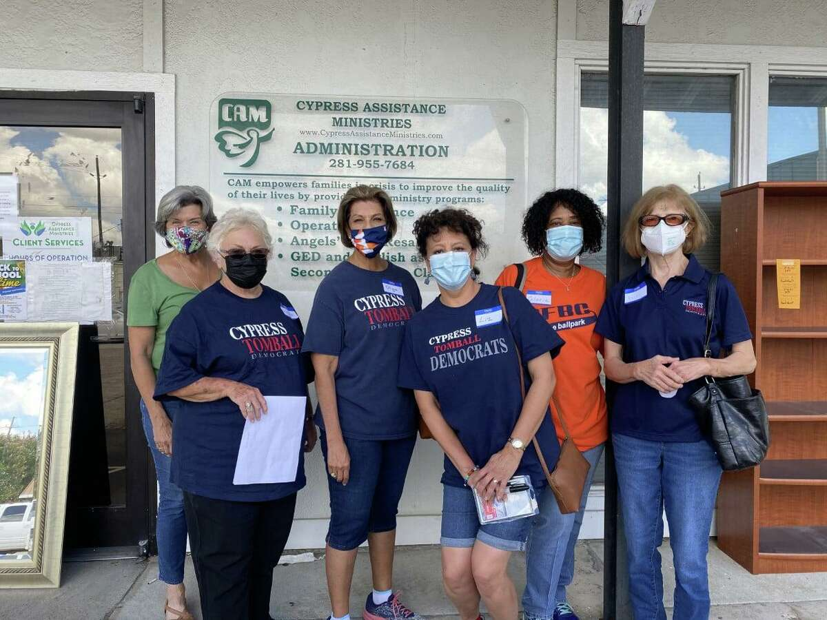 Cypress Assistance Ministries received donations and help from the Cypress-Tomball Democrats.