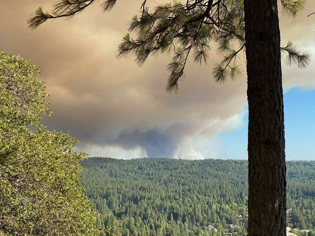 The River Fire as seen from Sugarloaf Mountain in Nevada City.