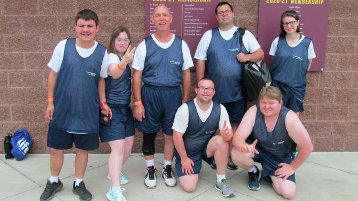 The athletes who participated in the track and field competition in the2021 Special Olympics Michigan State Summer Games. (Courtesy/Pat Rosales)