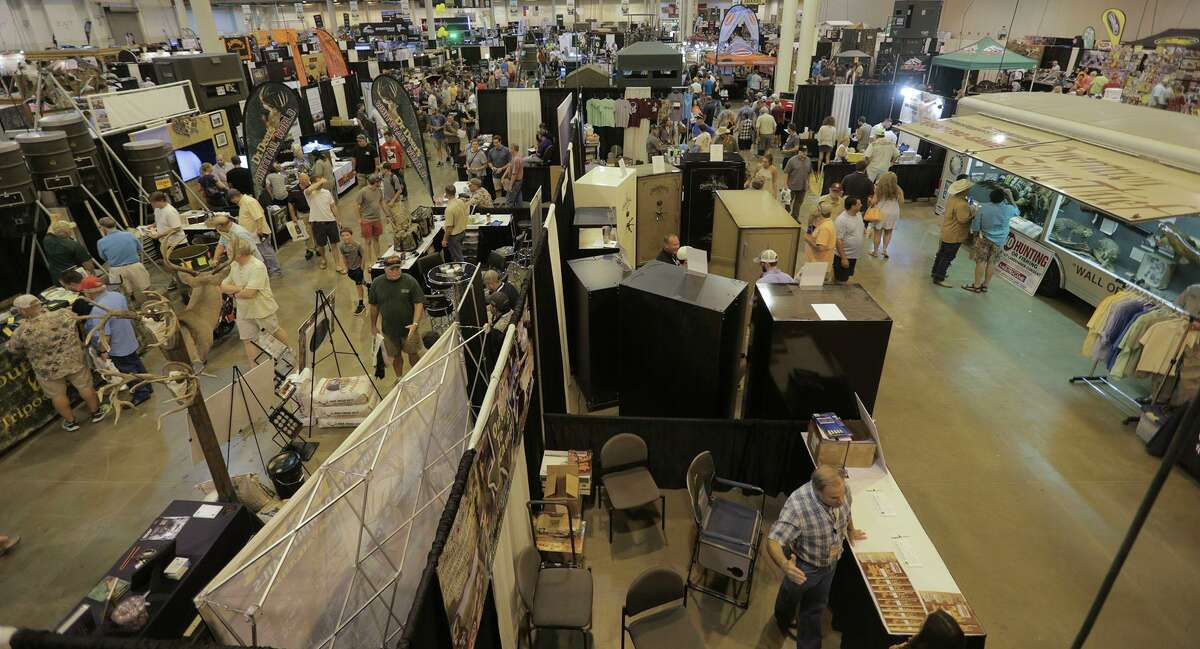 Attendees at the Hunter's Extravaganza sponsored by the Texas Trophy Hunters Association at NRG Center on Saturday, Aug. 13, 2016, in Houston. ( Elizabeth Conley / Houston Chronicle )