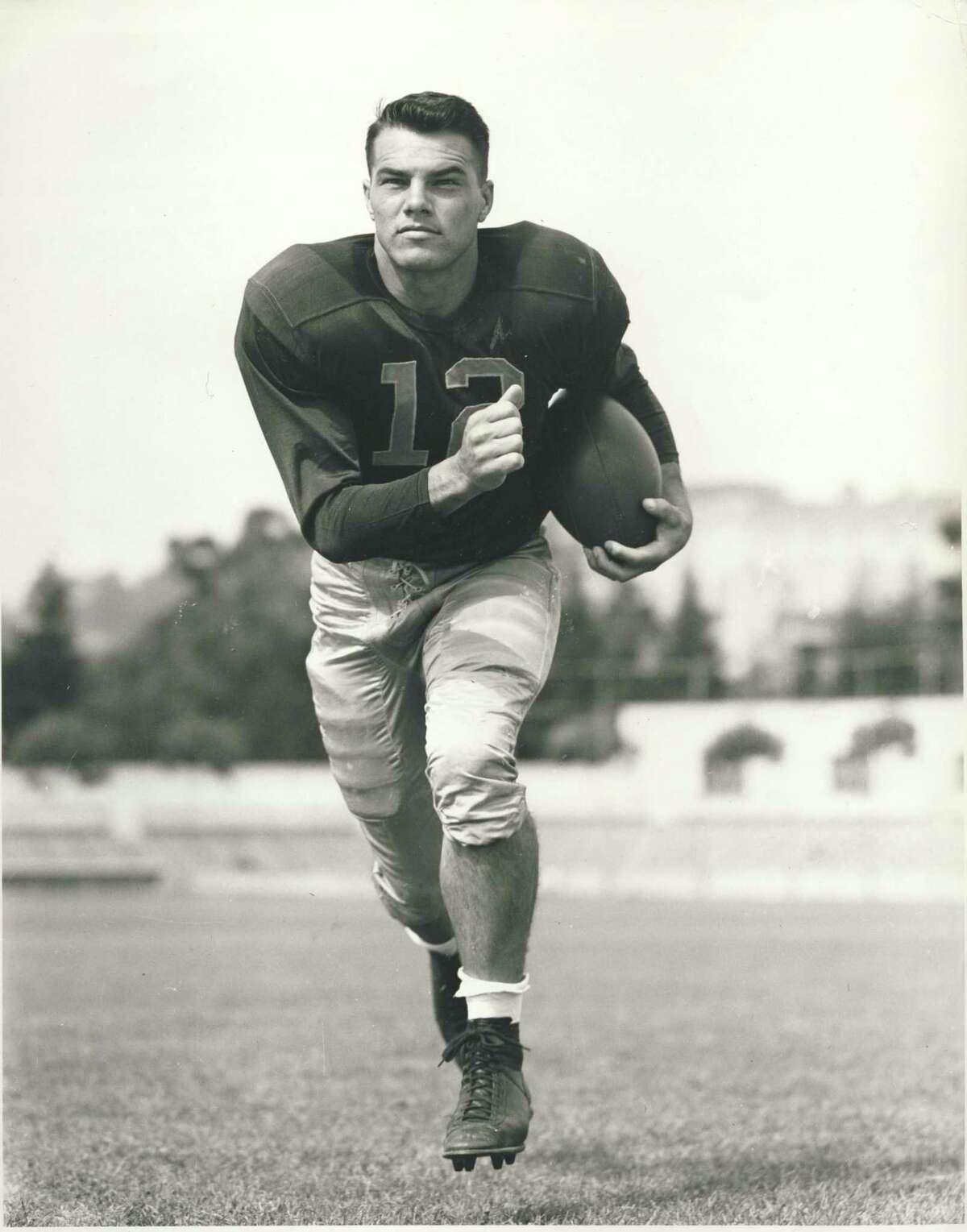 Pete Schabarum played on three Rose Bowl teams at Cal.