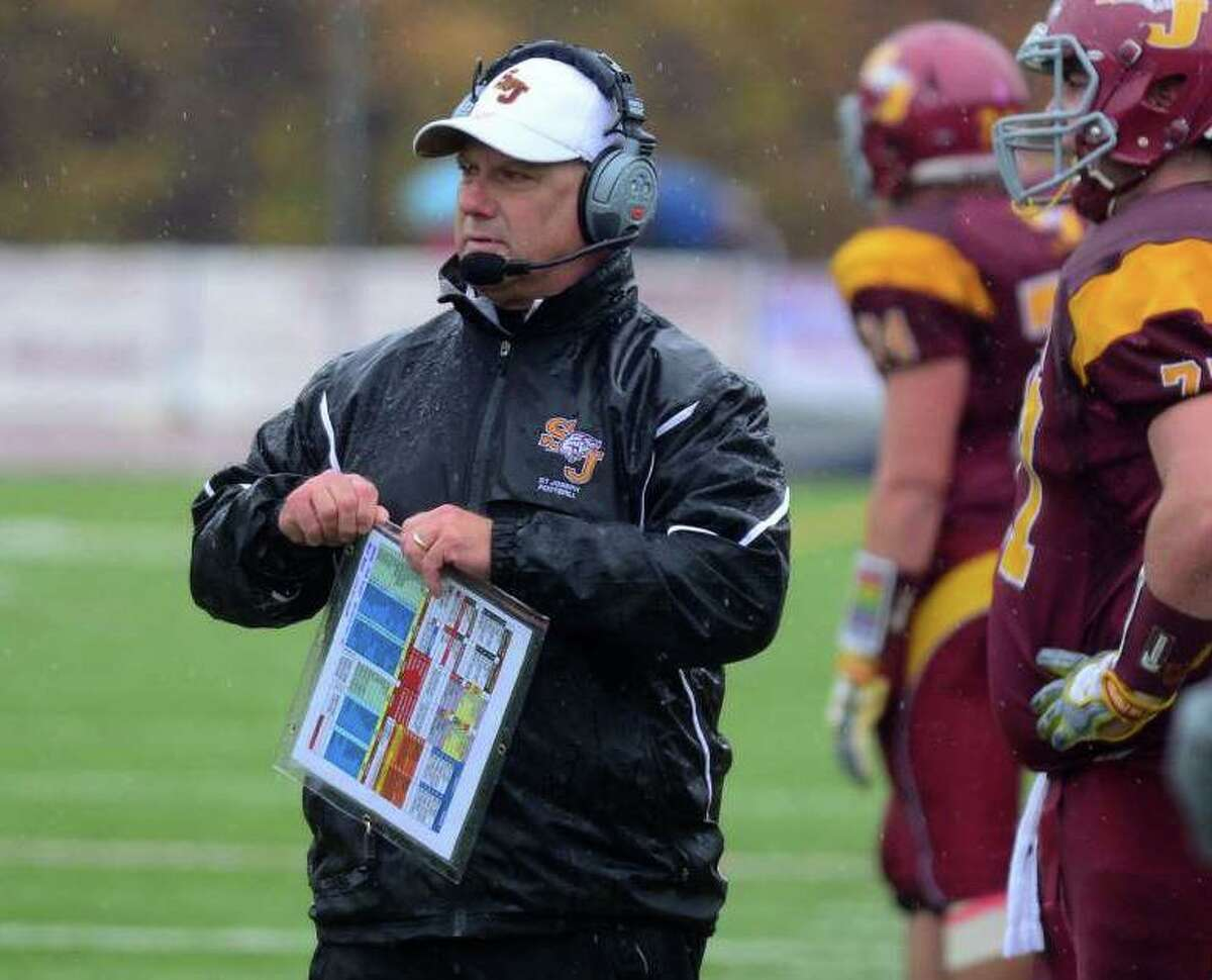 St. Joseph football coach Joe Della Vecchia has led his Hogs to seven state titles in the last 10 postseasons.