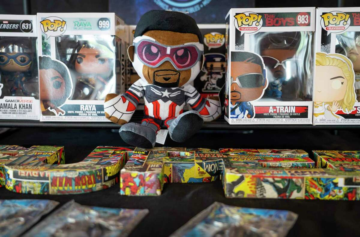 Funko Star Wars collectibles are on sale at the pop-up location of Gulfcoast Cosmos comic shop at the corner of Emancipation Boulevard and Elgin Street on Saturday, July 24, 2021, in Houston.