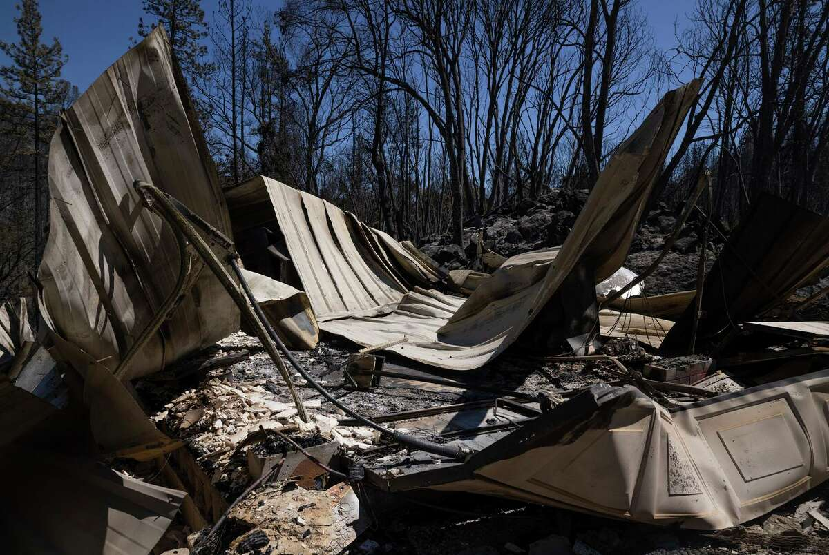 A Colfax home was incinerated by the River Fire, which burned more than 1,400 acres Wednesday.