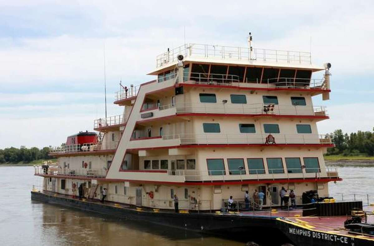 The MV Mississippi, the largest towboat on the Mississippi River, will be at the Melvin Price Locks and Dam in East Alton Saturday. The MV Mississippi is 241 feet long, 59 feet wide and includes 22 staterooms and a conference room that can seat 115.