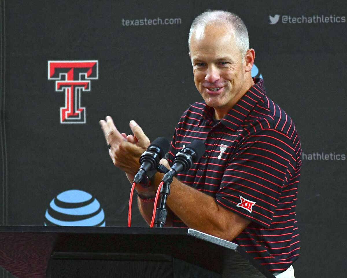 Texas Tech head coach Matt Wells was excited to welcome local media back to in-person press conferences on Thursday before the Red Raiders begin preseason practice on Friday.