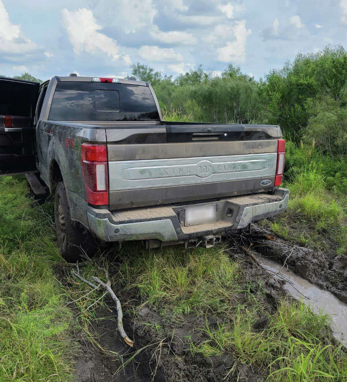 A truck reported stolen in San Antonio was found stuck after traveling through a Freer ranch.