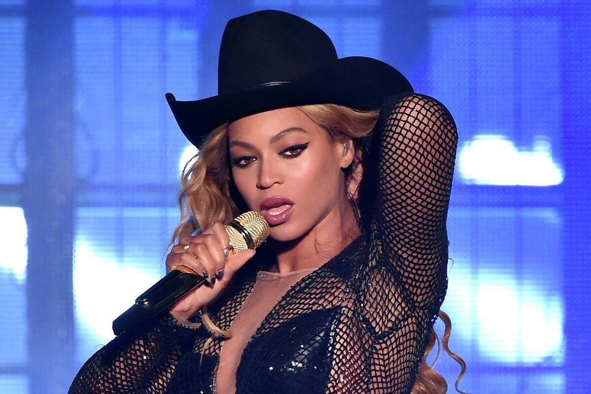 """Beyonce performs during the """"On The Run Tour: Beyonce And Jay-Z"""" at Minute Maid Park on July 18, 2014 in Houston, Texas."""