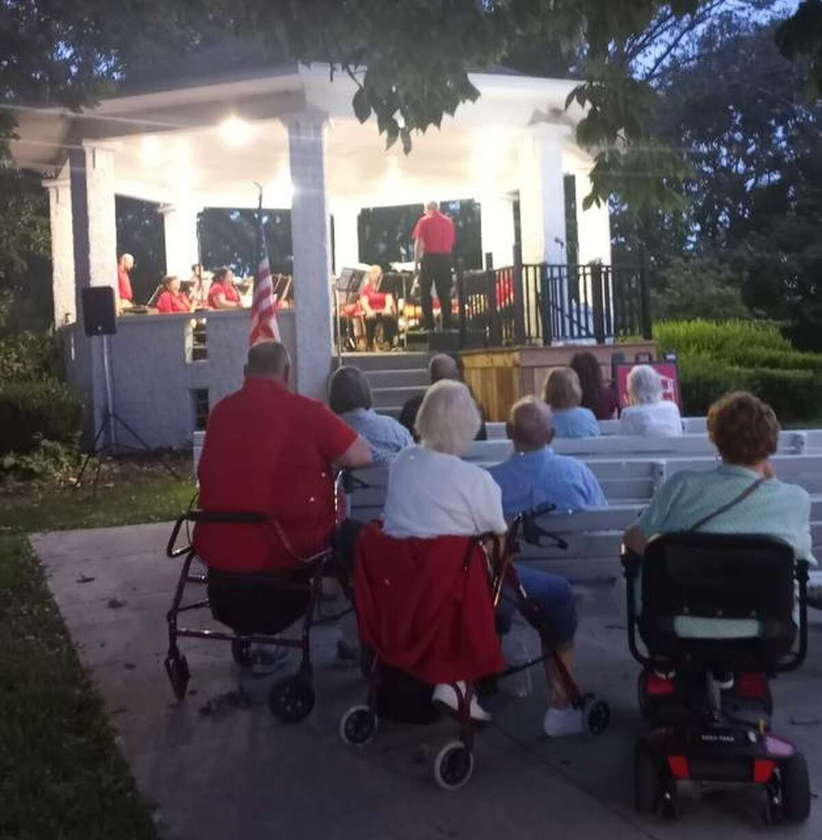 The Alton Municipal Band, led by conductor David Drillinger, held its second-to-last concert of the summer 2021 season Thursday in Riverview Park with long time guest vocalist Robyn Brandon. The season concludes Sunday with a 7 p.m. in Alton's Haskell Park.