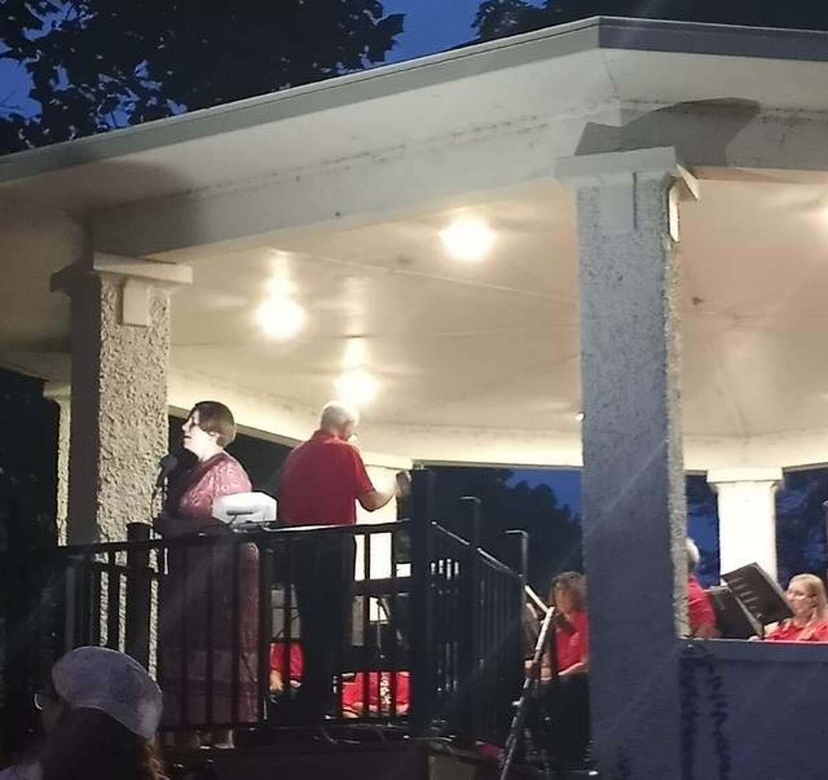 The Alton Municipal Band held its second-to-last concert of the 2021 summer season on Thursday in Riverview Park featuring guest vocalist Robyn Brandon.