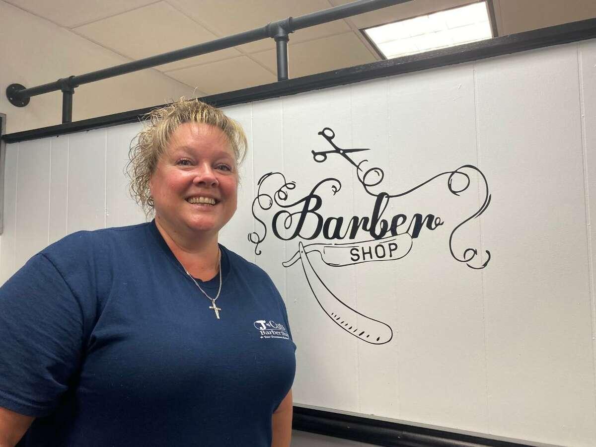 Jennifer Sneider, owner of J Cuts Barber Shop at 505 Howe Ave.